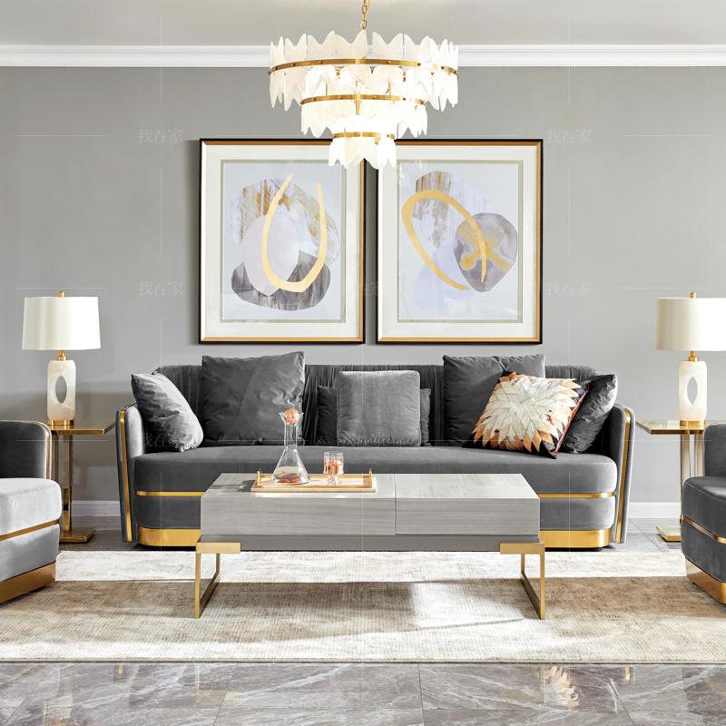 轻奢美式风格奈斯沙发