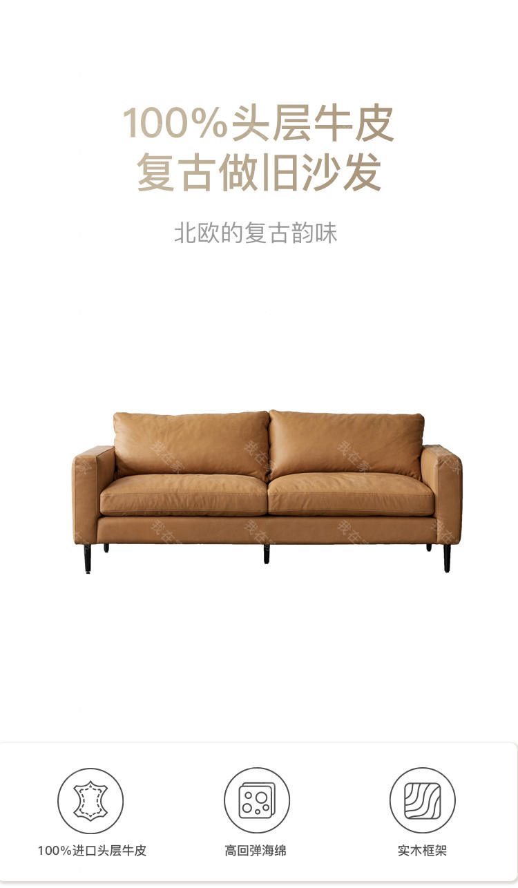 原木北欧风格莳光沙发的家具详细介绍