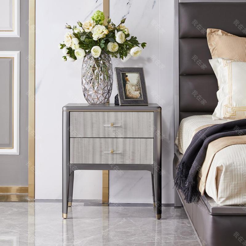 轻奢美式风格希尔顿床头柜