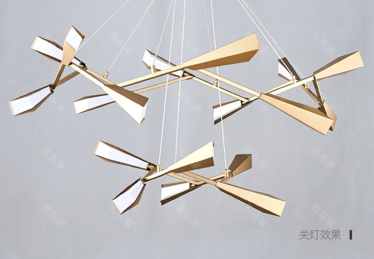 现代北欧灯品牌现代轻奢风旋枝吊灯的详细介绍