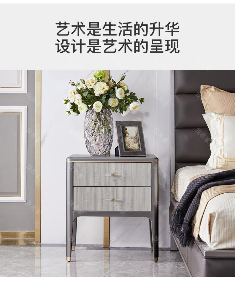 轻奢美式风格希尔顿床头柜的家具详细介绍