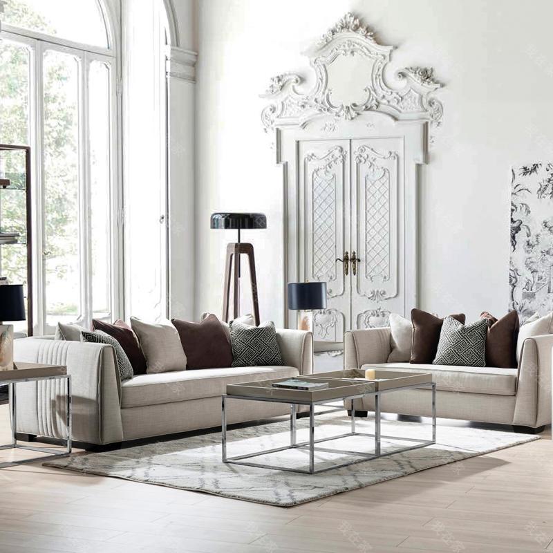 现代美式风格博尔德布艺沙发