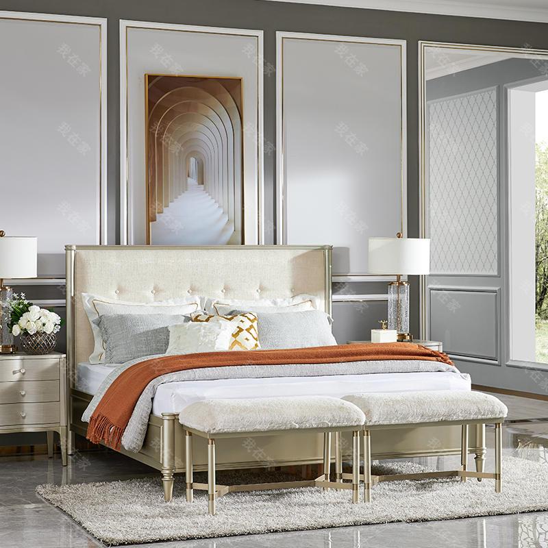 轻奢美式风格奈斯双人床