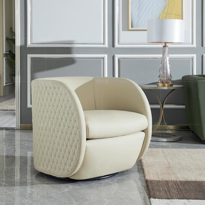 轻奢美式风格勃朗特休闲椅