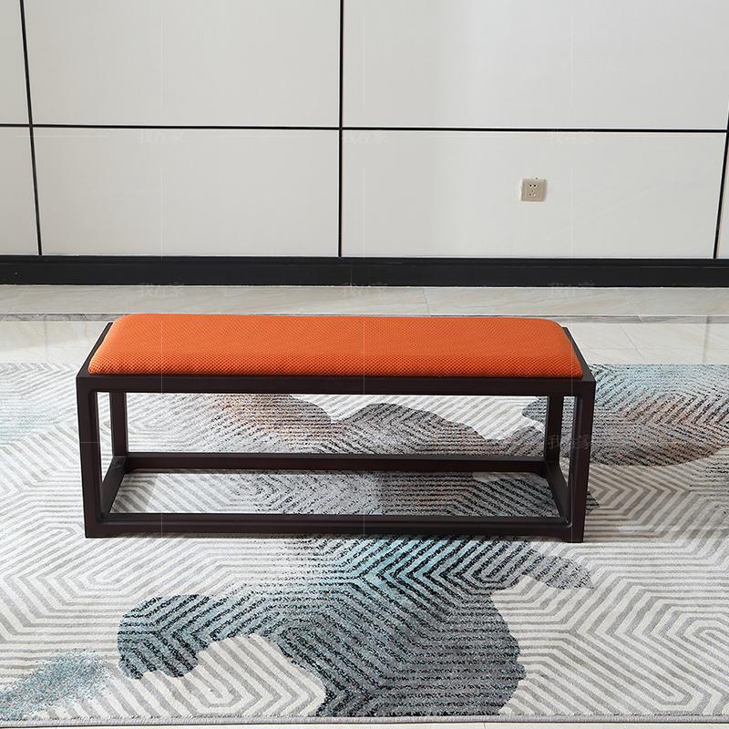 中式轻奢风格西凝茶凳