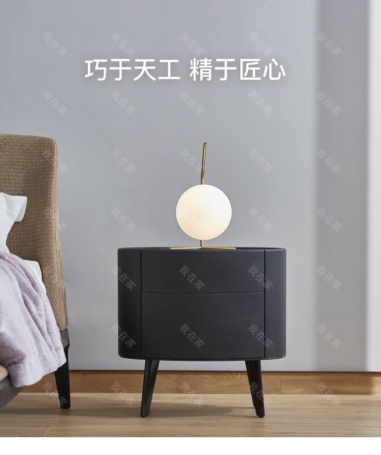 意式极简风格塞尼亚床头柜的家具详细介绍