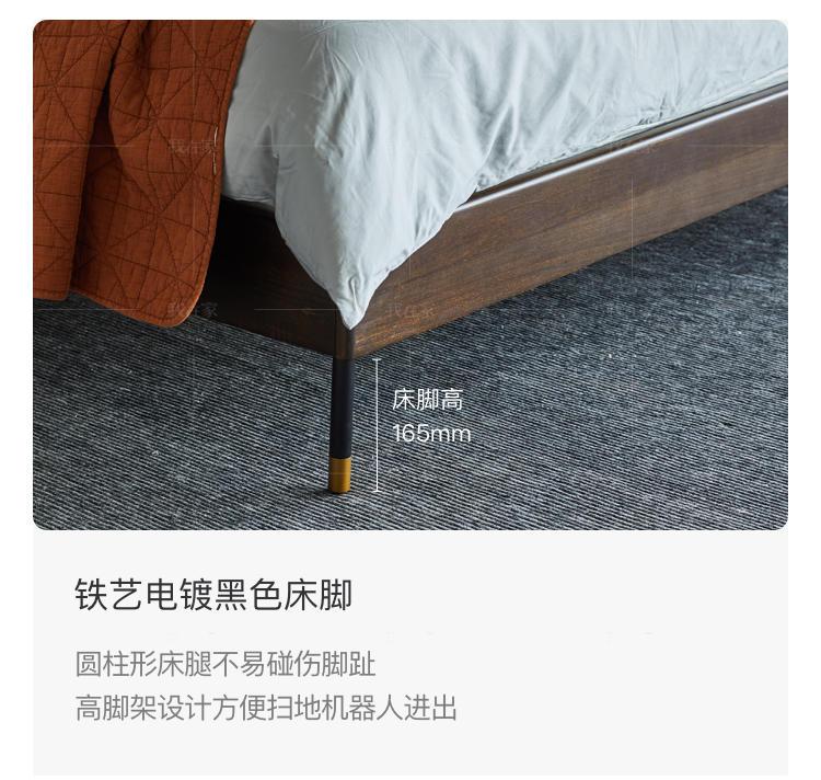 中古风风格斯维登双人床的家具详细介绍