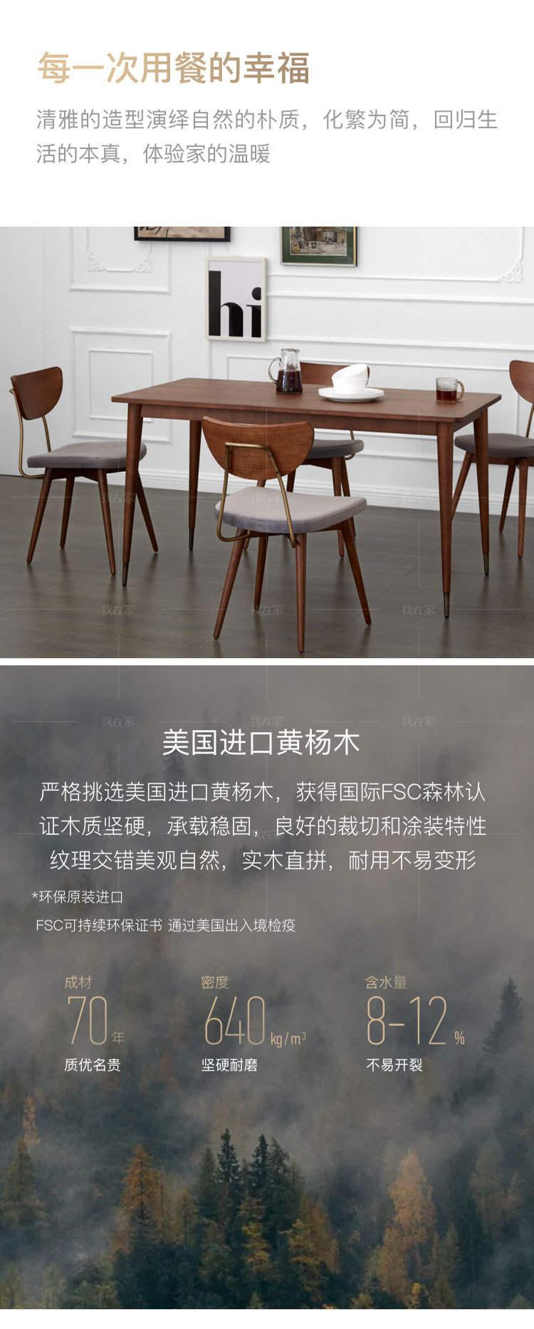 中古风风格彼得曼餐桌(样品特惠)的家具详细介绍