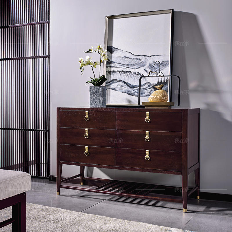 新中式风格似锦六斗柜