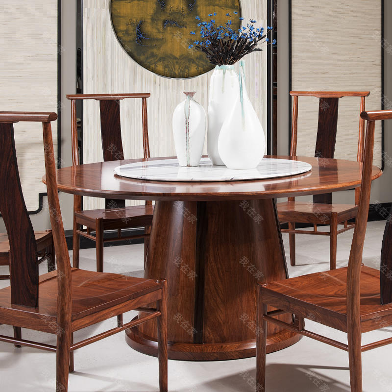 新古典中式风格独尊圆餐桌