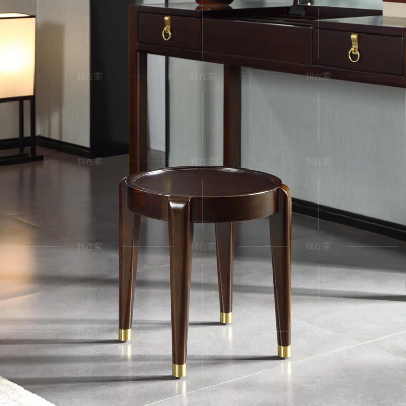 新中式风格玲珑梳妆凳