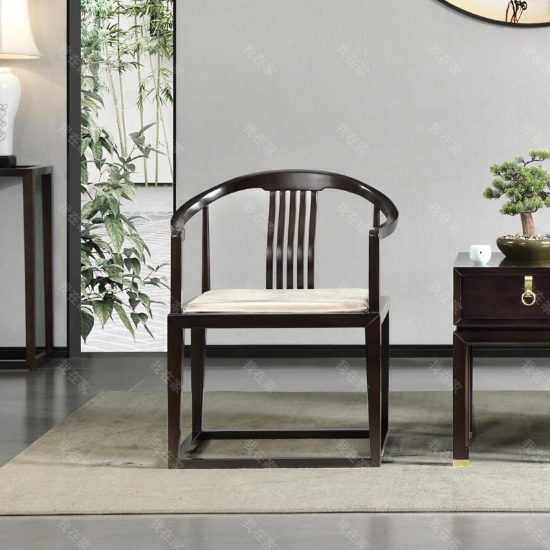 新中式风格疏影休闲椅