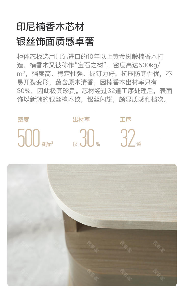 轻奢美式风格塔菲床头柜的家具详细介绍