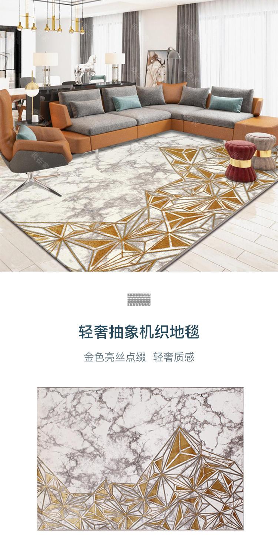 地毯品牌轻奢抽象机织地毯的详细介绍