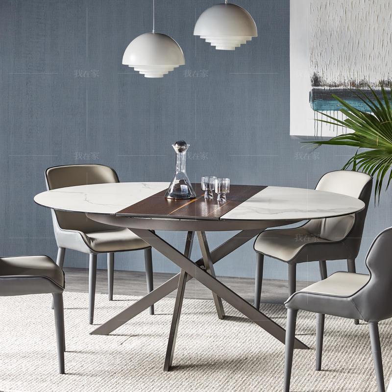 现代简约风格拉维纳拉伸餐桌