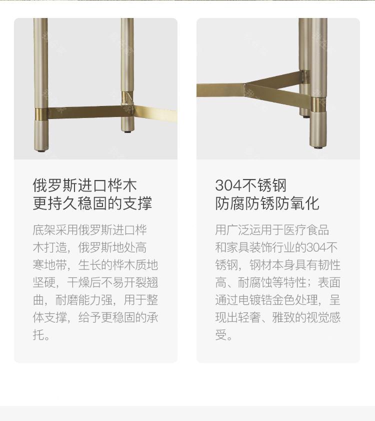 轻奢美式风格奈斯床尾凳的家具详细介绍