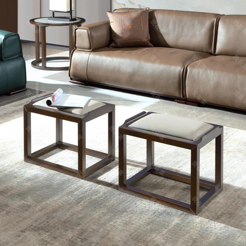新中式风格似锦茶凳