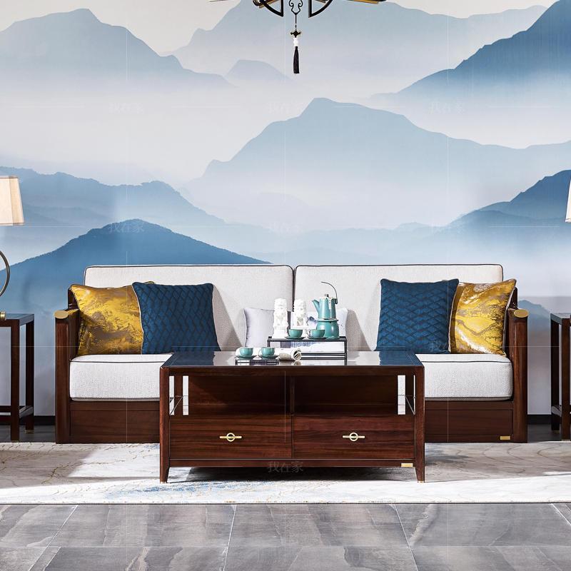 新中式风格松溪沙发