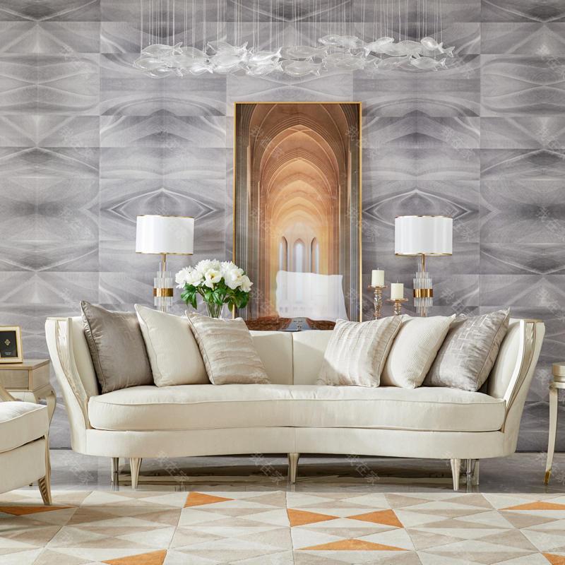 轻奢美式风格莫尔沙发