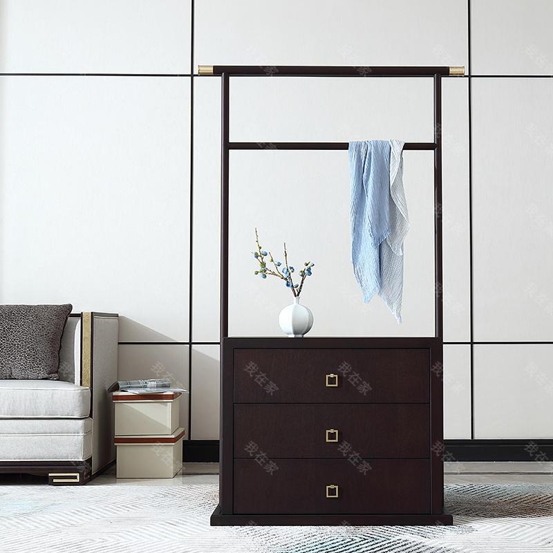 中式轻奢风格颂园挂衣架