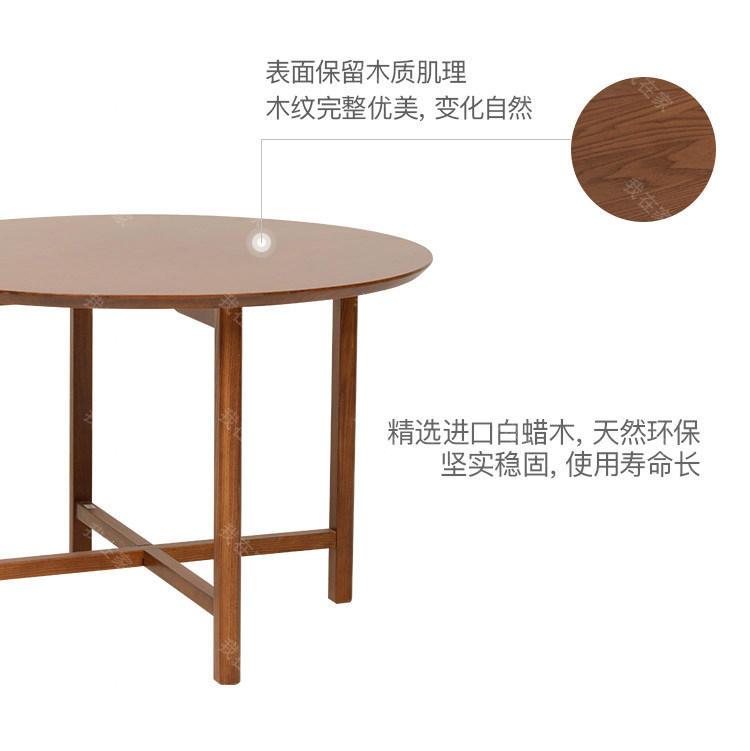 新中式风格知足圆餐桌的家具详细介绍