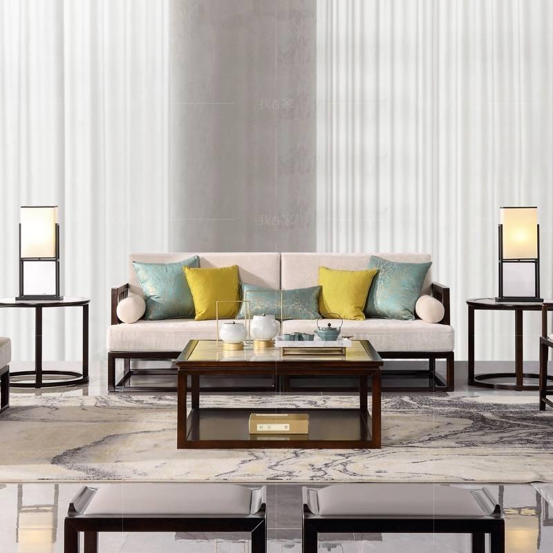 新中式风格秋月沙发