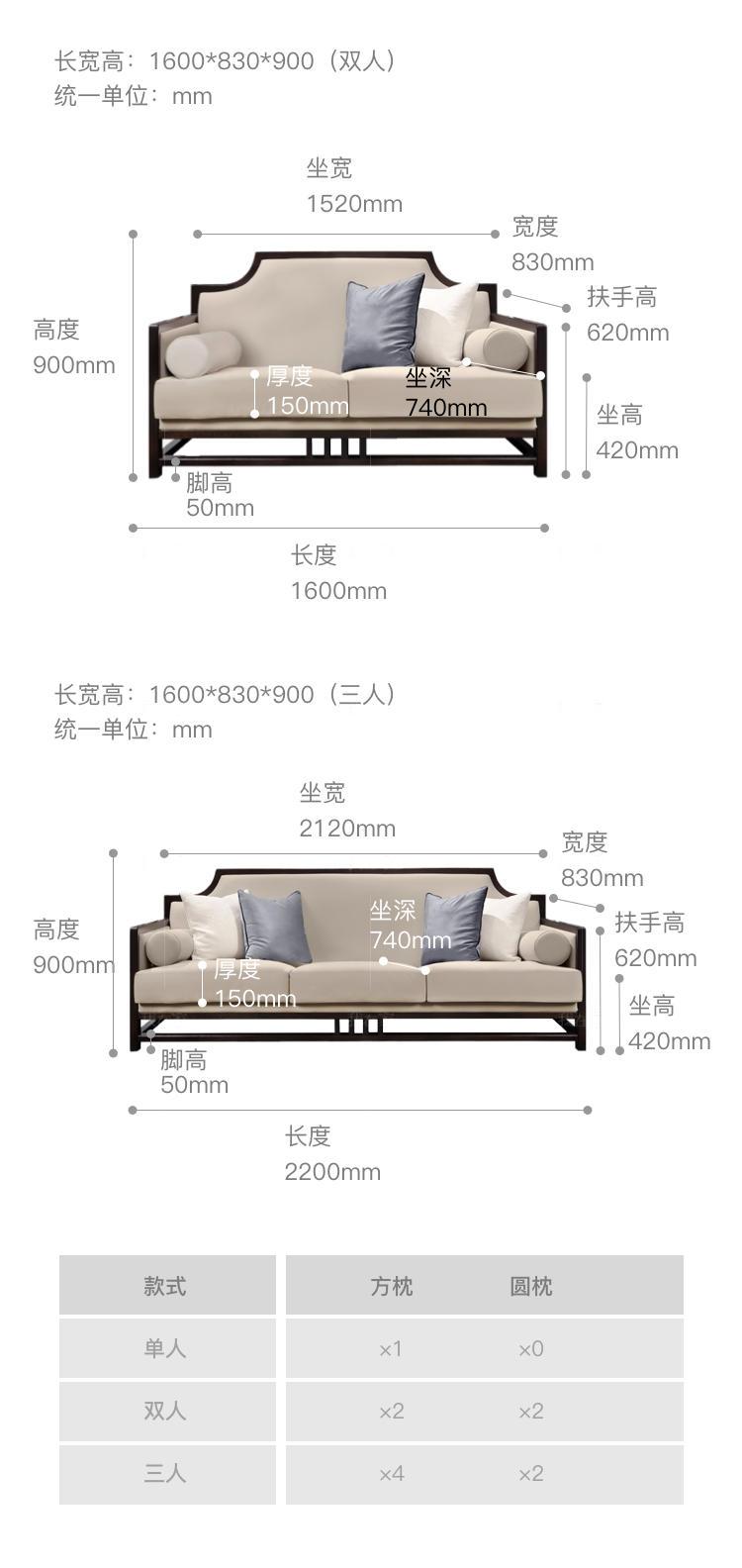 新中式风格锦里沙发的家具详细介绍