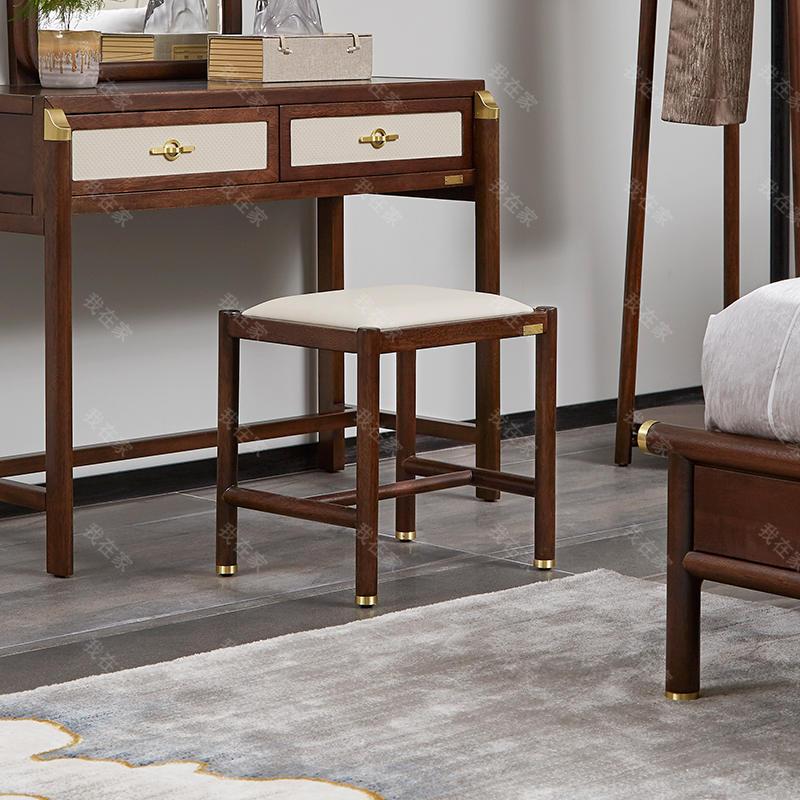 新中式风格楼雨梳妆凳