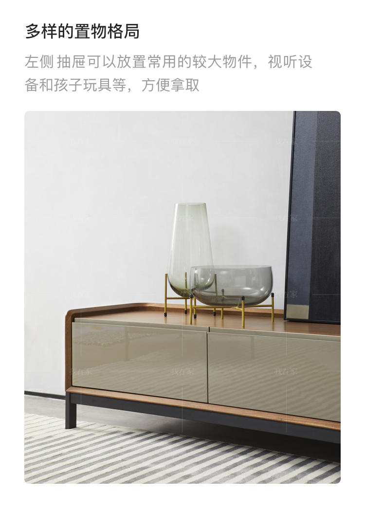 意式极简风格方格电视柜的家具详细介绍