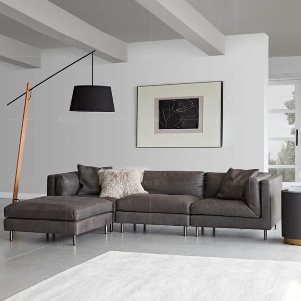 中古风风格斯维登沙发
