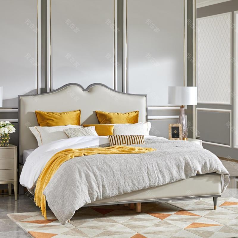 轻奢美式风格杰西卡双人床