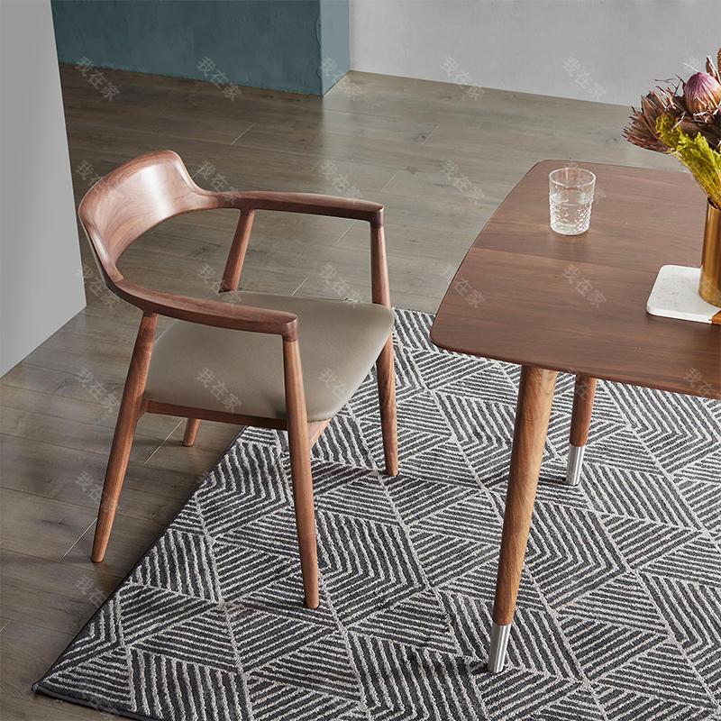 原木北欧风格知夏餐椅