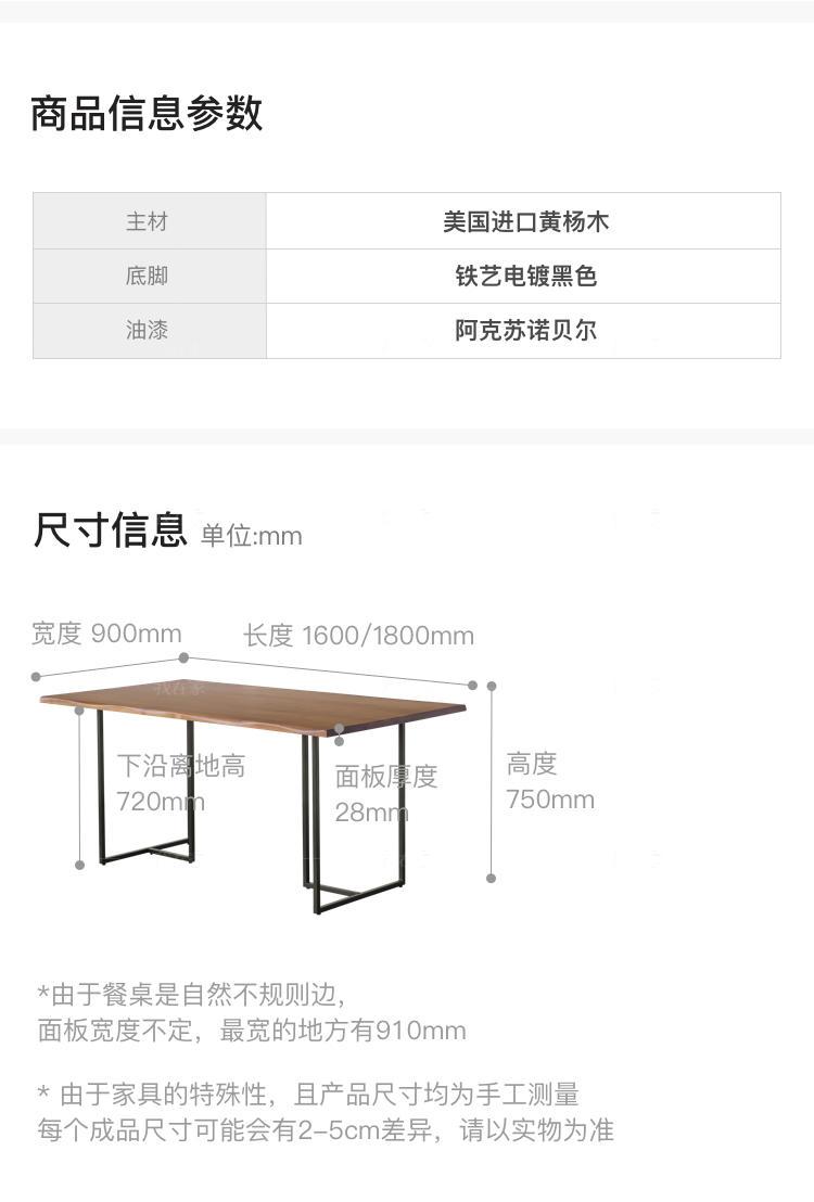 中古风风格艾斯堡餐桌的家具详细介绍