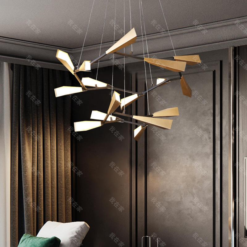 现代北欧灯品牌现代轻奢风旋枝吊灯