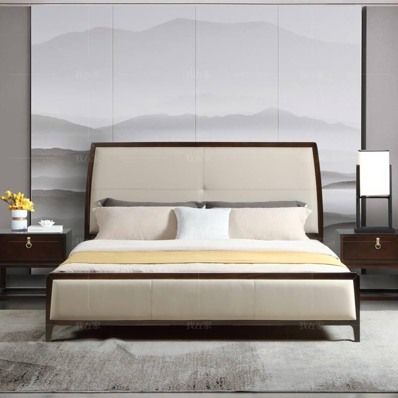 新中式风格幽兰双人床