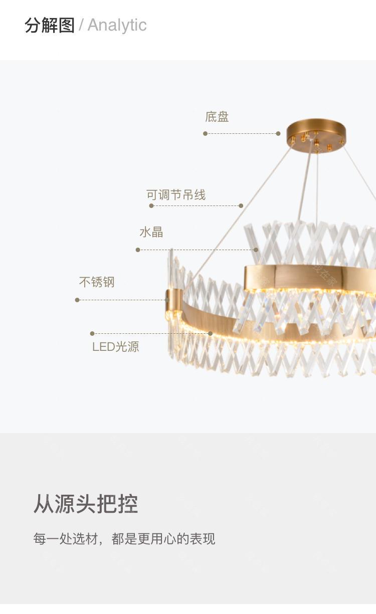 现代北欧灯品牌轻奢风水晶圆形客厅吊灯的详细介绍