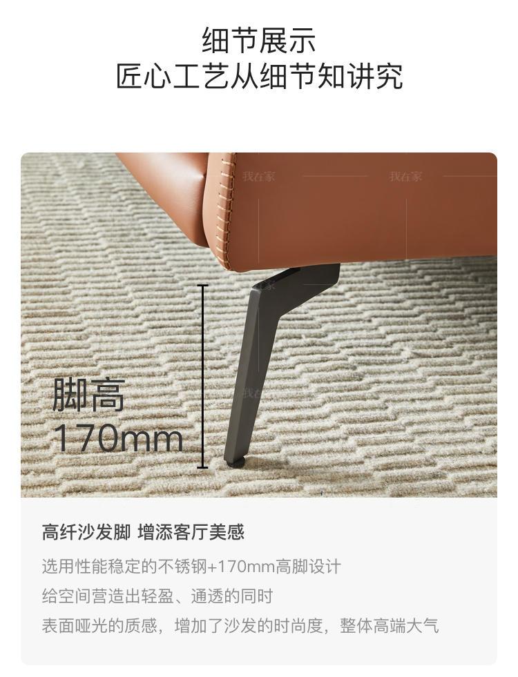 意式极简风格高迪沙发的家具详细介绍