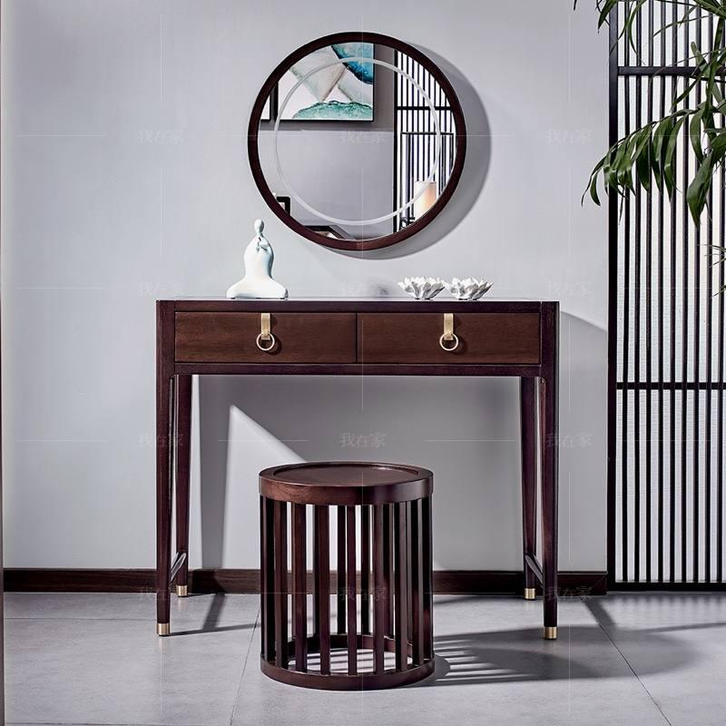 新中式风格似锦梳妆凳